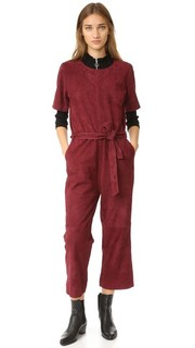 Rufus Suede Jumpsuit Just Female