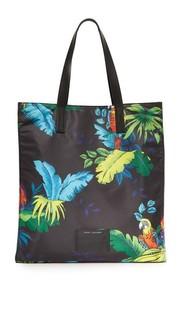 Объемная сумка-шоппер BYOT с короткими ручками и принтом в виде попугаев Marc Jacobs