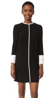 Свободное платье со складкой и манжетами Victoria Victoria Beckham