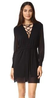 Платье со шнуровкой на V-образном вырезе Fuzzi