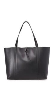 Объемная сумка с короткими ручками и завязками Kara