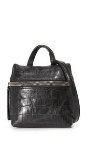 Миниатюрная сумка-портфель с тиснением под крокодила Kara