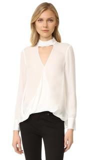 Блуза с длинными рукавами и декоративной отделкой на воротнике Derek Lam 10 Crosby
