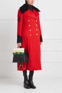 Кашемировое пальто с овчиной Gourji