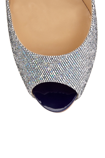Кожаные туфли New Very Prive 120 Glitter Christian Louboutin