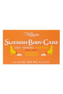 Мыло для тела Shea-Honung-Hjortron «Морошка» 4x70gr Victoria Soap