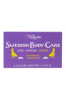 Мыло для тела Shea-Honung-Blabar «Черника» 4x70gr Victoria Soap