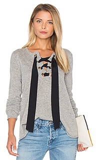 Lace up flare sweater - Autumn Cashmere