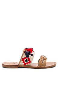 Embroidered slide sandal - Soludos