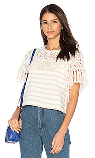 Short sleeve fringe top - See By Chloe