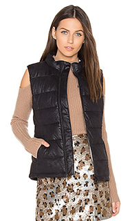 Vegan leather puffer down vest - MONROW