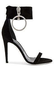 Zipped high sandal heel - OFF-WHITE