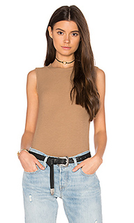 High neck sleeveless tank - three dots