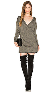 Shimmer wrap mini dress - Callahan
