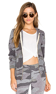 Oversized camo zip up hoodie - MONROW