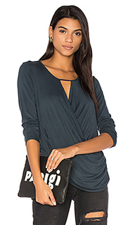 Ruched surplice top - krisa