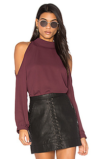 Cold shoulder turtleneck top - krisa
