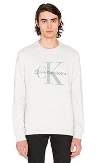 Винтажный свитшот с круглым вырезом и логотипом - Calvin Klein