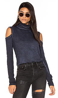 Cold shoulder turtleneck top - Pam & Gela