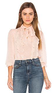 Блуза с длинным рукавом в металлический горошек - Rebecca Taylor