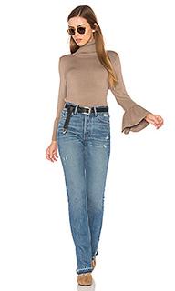 Ruffle sleeve turtleneck sweater - 525 america
