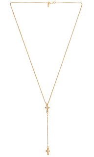 Stella cross rosary necklace - Vanessa Mooney