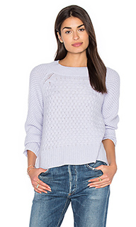 Weaved crew neck sweater - White + Warren