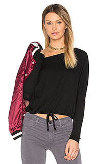 Oversized drawstring ribbed tee - Chaser