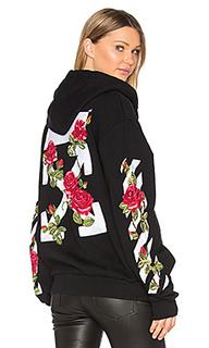Roses sweat black hoodie - OFF-WHITE