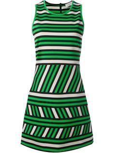 платье с полосатым узором Lanvin