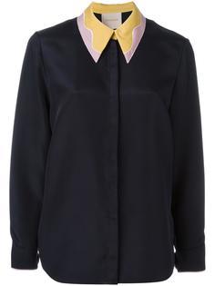 рубашка с контрастным воротником Roksanda