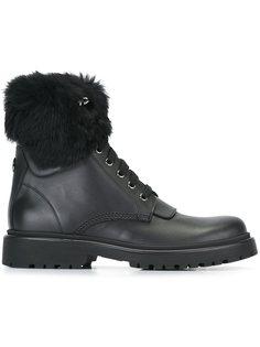 ботинки с меховой отделкой Moncler