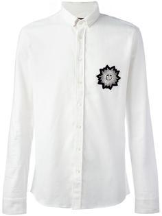 рубашка с нашивкой Balmain