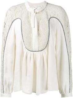 блузка с ажурной вставкой  Chloé