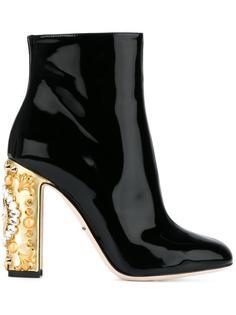 декорированые ботильоны  Dolce & Gabbana