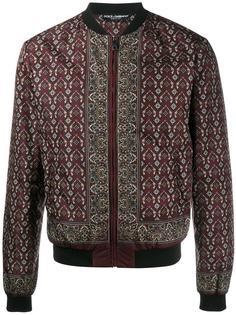 куртка-бомбер с цветочным узором Dolce & Gabbana
