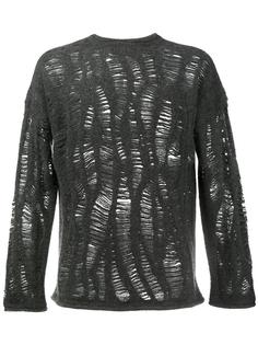 cashmere blend distressed jumper By Walid