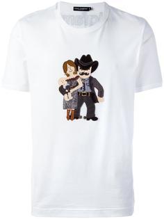 футболка с нашивкой 'Family' Dolce & Gabbana