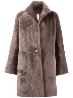 двухстороннее пальто из овчины Helmut Lang