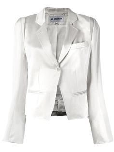 укороченный пиджак с отливом Ann Demeulemeester Blanche