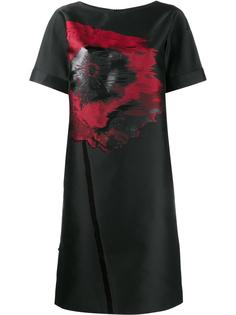 poppy embroidered shift dress Osman