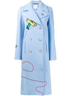 двубортное пальто с вышивкой Mira Mikati