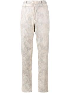 брюки с узором змеиной кожи Y / Project