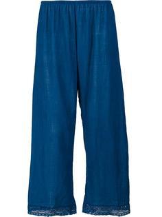 укороченные брюки с кружевной отделкой Dosa