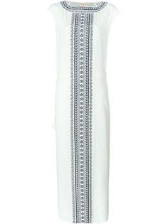 длинное платье с вышивкой  Tory Burch