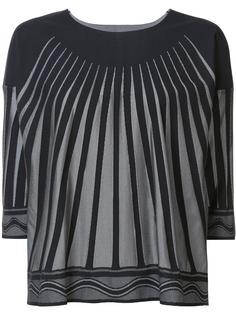 striped cropped blouse Pleats Please By Issey Miyake