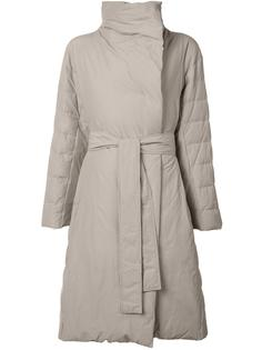 belted oversized coat Pleats Please By Issey Miyake