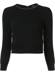 embellished neck cropped jumper Nº21