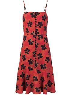 floral print flared dress Suno