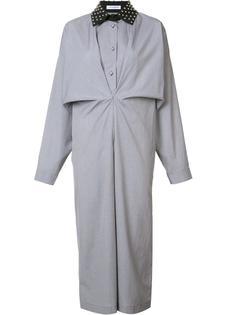 платье-рубашка с заклепками на воротнике J.W.Anderson